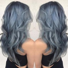 "Vegan + Cruelty-Free Color on Instagram: ""Cool silver-blue locks for summa time Hair by @brits_punky_barbie Achieve something similar with Periwinkle, Sterling, Arctic Mist &…"""