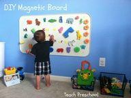 DIY Magnetic Board from Teach Preschool