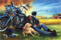 Biker photo: Biker This photo was uploaded by Motorcycle Art, Bike Art, Motorbike Clothing, Motorcycle Quotes, Cool Motorcycles, Harley Davidson Motorcycles, Harley Davidson Kunst, Biker Photos, David Mann Art