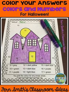 TWENTY Color By Numbers Know Your Numbers and Colors: Color By Code Halloween Fun Know Your Numbers and Know Your Colors Worksheets Bundle Color By Code Halloween Fun Know Your Numbers and Know Your Colors - Color Your Answers Printables for some Halloween fun in your classroom! Answer Keys Included. #FernSmithsClassroomIdeas