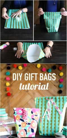 How To Make A DIY Gift Bag For Christmas | Wraps, Learning and ...
