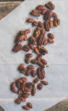 Coffee + Maple Spiced Nuts ~ I will never make these but they sound amazing
