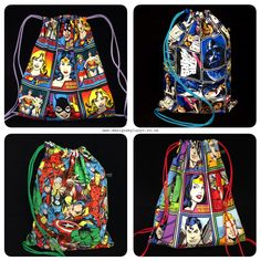 Justice League, Girl Power (Wonder Woman, Batgirl & Supergirl), Star Wars and Marvel Superheroes bags.   Each bag is handmade to order - no sweatshops or mass production here! Buy with confidence from a 5* rated Etsy seller and support small businesses!   Check out my shop www.designsbylucyv.co.uk for current available items or to make a custom request 😊