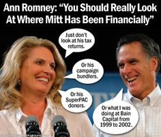 Romney refuses to release any of the Reports on Foreign Bank and Financial Accounts, or FBARs, that he almost certainly had to file with the IRS because of, among other things, the $3 million Swiss bank account that Romney had.
