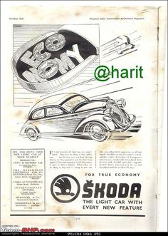 1937 Skoda Ad Old Signs, Retro Cars, Old Cars, Vintage Ads, Techno, Touring, Advertising, European Countries, Brochures