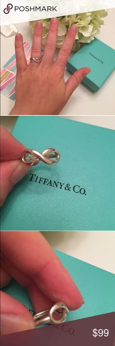 Tiffany & co infinity ring Tiffany & co infinity ring, size 5.5. inscribed with t&co ag925. Sterling silver. Tiffany & Co. Jewelry Rings
