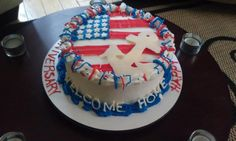 Navy Homecoming Cake ... who wants to make this for me :)