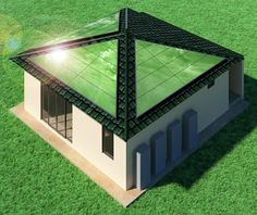 """House consumes CO2 by using artificial photosynthesis. """"The company aims to supply houses that not only reduce CO2 emissions but also consume it by using an artificial photosynthesis technology that uses solar energy to convert CO2 into hydrogen."""" http://ift.tt/2whR6U5"""