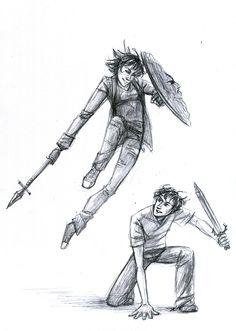 Thalia Grace and Percy Jackson Percy Jackson Fan Art, Percy Jackson Books, Percy Jackson Fandom, Thalia Grace, Solangelo, Percabeth, Viria, Oncle Rick, Daughter Of Poseidon