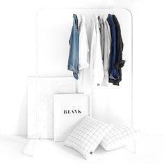 NZ-based studio Design Ministry have launched their latest collection of duvets, pillowcases and cushions. Minimalist Closet, Minimalist Home, Minimalist Fashion, White Aesthetic, Buy Prints, Interior Design Living Room, Wardrobe Rack, Clothing Photography, Fashion Photography