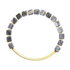 Würfel Armband mit Picasso Jaspis - geometrisches Armband - elastisches Armband - KAYA