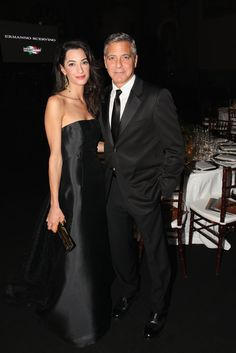 Pin for Later: 12 Times George and Amal Clooney Were the Most Stylish Couple on the Planet When They Both Rocked All-Black Looks Never underestimate the power of the classics. George Clooney Amal Alamuddin, Amal Alamuddin Style, George Clooney Wedding, Celebrity Couples, Celebrity Style, Hollywood Couples, Hollywood Celebrities, Celebrity Gossip, All Black Looks