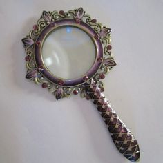 ~Very Lovely~   Purple & Bronze Magnifier Glass