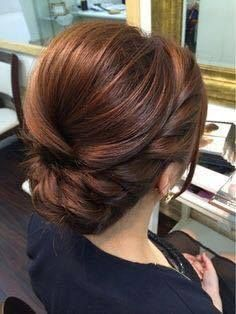 Elegant, polished, braided updo that would be perfect for any bridesmaid or brid. - Elegant, polished, braided updo that would be perfect for any bridesmaid or bridal hair theme. Formal Hairstyles, Bride Hairstyles, Pretty Hairstyles, Bridesmaids Hairstyles, Vintage Hairstyles, Elegant Hairstyles, Chic Hairstyles, Bridesmaid Dresses, Hairstyle Ideas