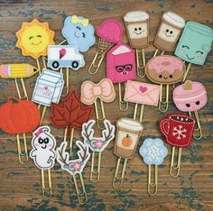 Enabler Alert: When Rachel of reopens her store after what seems like foevah you run and place an order for Felt Bookmark, Bookmark Craft, Diy Bookmarks, Kawaii Crafts, Cute Crafts, Felt Crafts, Paper Crafts, Diy Crafts Hacks, Diy And Crafts