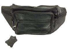 $15.97 Multiple Pocket Genuine Solid (not patch) Leather Waist Pack, Fanny Pack. Large adjustable strap - Black like mine, can put in carry on, use on excursions without shopping