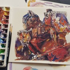 Transformers - Schmincke + Winsor&Newton Watercolor on 300gsm Arches paper.Thank you for following ...