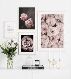 Flower Rose Botanical Canvas Art Poster Nordic style Decorative Print Wall Painting Scandinavian Decoration Picture Home Decor Framed Wall Art, Decorating With Pictures, Poster Store, Picture Wall, Mural Wall Art, Gallery Wall Inspiration, Wall Painting, Scandinavian Decor, Gallery Wall Design