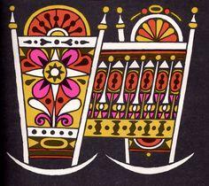 John Alcorn, illustration for The Fireside Book of Children's Songs, 1966