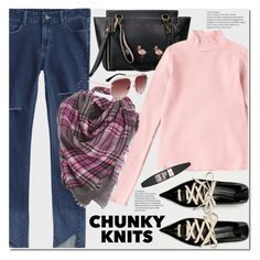 """""""Get Cozy: Chunky Knits"""" by duma-duma ❤ liked on Polyvore featuring Maybelline and chunkyknits"""