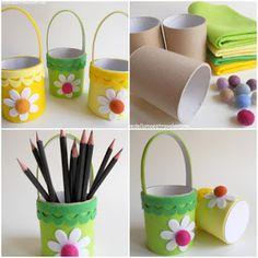 Educação, criatividade e boas ideias. : Rolinhos de papel higiênico