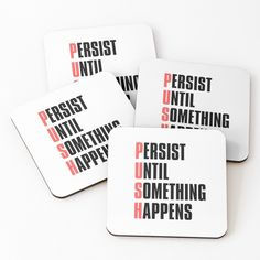 Coasters, Motivational, Shit Happens, Printed, Awesome, Products, Art, Art Background, Coaster