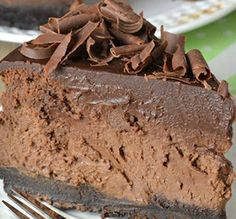RECIPE GART YUMY: Triple Chocolate Cheesecake with Oreo Crust !!