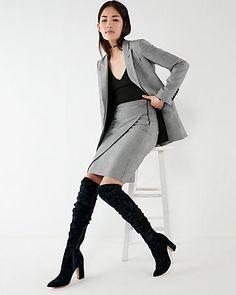a0d9072c3d Velvet Pointed Toe Over The Knee Boots Velvet Thigh High Boots