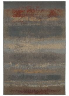 Material: Machine Woven Woven 100% Heat Set Polypropylene Warm colors provide a modern look with this sunset inspired abstract rug. Manufactured entirely in the United States, American Rug Craftsmen's