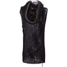 A.F.Vandevorst '152 Trekking' sleeveless sweater (£250) ❤ liked on Polyvore