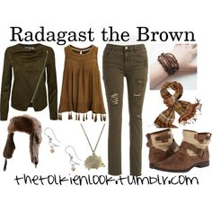 Radagast the Brown by thetolkienlook on Polyvore featuring VILA, Tinsel, Blowfish and prAna