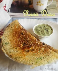 A plateful of lacy textured crunchy rava dosa paired with coconut chutney and sambar is something one can dream for starting a day