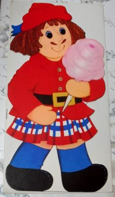 """1974 Hallmark Cards Doll Book """"Uncle CLem's Carnival"""" - Raggedy Ann & Andy   eBay"""