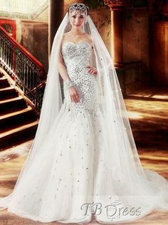 Awesome Trumpet/Mermaid Sweetheart Beading Floor-length Court Train Wedding Dress.http://www.tbdress.com/product/Awesome-Trumpet-Mermaid-Sweetheart-Beading-Floor-Length-Court-Train-Wedding-Dress-10459094.html