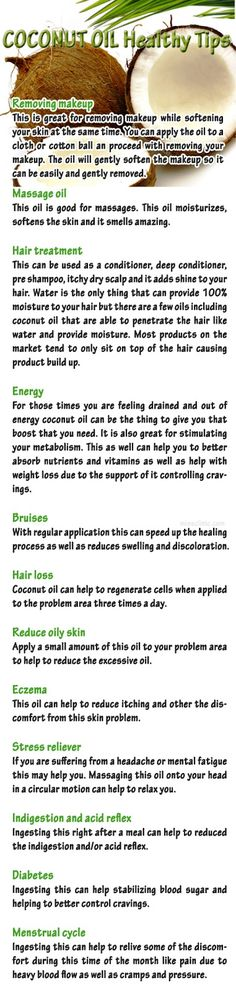 Use Coconut Oil Health - Coconut Oil Health Tip - 9 Reasons to Use Coconut Oil Daily Coconut Oil Will Set You Free — and Improve Your Health!Coconut Oil Fuels Your Metabolism! Health Remedies, Home Remedies, Natural Remedies, Coconut Oil Uses, Benefits Of Coconut Oil, Just In Case, Just For You, Massage Oil, Health And Beauty Tips