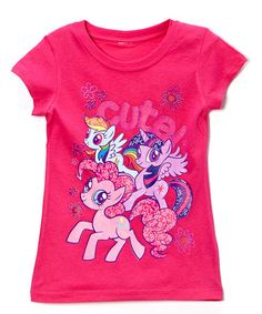 Another great find on #zulily! Pink 'Cute!' My Little Pony Tee - Toddler & Girls by My Little Pony #zulilyfinds