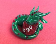 Ruby Dice Dragon by DragonsAndBeasties
