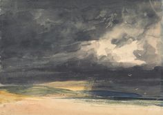 Thomas Shotter Boys, 1803-1874, British Title A Storm on the Coast Date between 1840 and 1850 Medium Watercolor on cream, moderately thic...