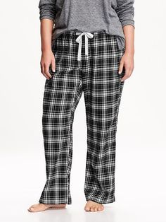 Women's Plus Plaid Flannel PJ Pants Product Image