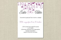 Classic Wedding Invitation, wedding invitation, Floral wedding invitation, Pink Wedding Invitation Classic Wedding Invitations, Unique Weddings, Unique Wedding Favors