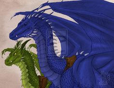 Saphira and Firnen by Tsuani-Inushiro