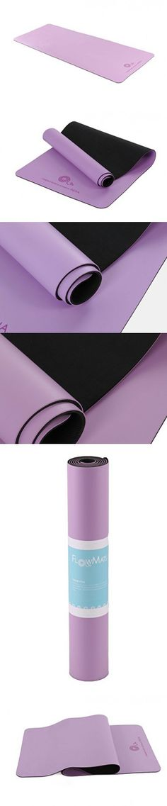 FlowMats FreeFlow non slip yoga exercise mat for home and hot yoga 5mm thick (Periwinkle Purple)