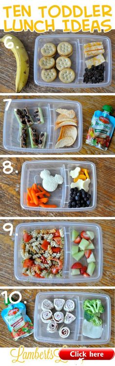Ten (Quick and Easy) Toddler Lunch Ideas 2019 Ten (Quick and Easy) Toddler School Lunch Ideas (Brought to you by Del Monte) The post Ten (Quick and Easy) Toddler Lunch Ideas 2019 appeared first on Toddlers ideas. Lunch Snacks, Healthy Snacks, Healthy Eating, Healthy Recipes, Kid Lunches, Easy School Lunches, Baby Snacks, Kid Snacks, Easy Toddler Lunches