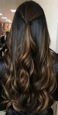 Brown Hair Balayage, Blonde Hair With Highlights, Hair Color Balayage, Ombre Hair, Carmel Hair, Hight Light, Haircuts Straight Hair, Hair Color For Black Hair, Brown Hair Colors