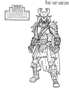 Fortnite Coloring 4 Hunter In 2018 Pinterest Coloring Pages