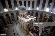 The tomb of Jesus Christ with the rotunda is seen in the Church of the Holy Sepulchre on March 21 2017 in Jerusalem Israel The tomb of Jesus Christ... Christ Tomb, Jesus Tomb, Jesus Christ, Roman Goddess Of Love, Article Of The Week, Business Intelligence, Holy Land, 12th Century, Old City