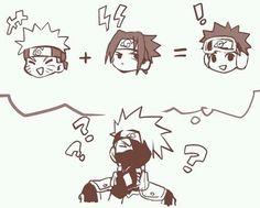 Kakashi, Naruto, Sasuke, Obito