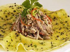 Entensalat mit Crêpe ist ein Rezept mit frischen Zutaten aus der Kategorie Ente. Probieren Sie dieses und weitere Rezepte von EAT SMARTER!
