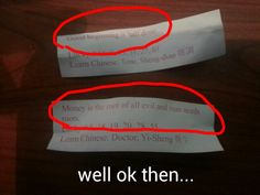 The things fortune cookies say