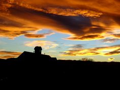 sunset-over-country-school-house
